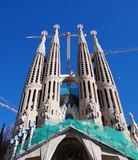 Sagrada familia by antonio gaudi Royalty Free Stock Photos