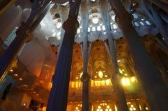 Sagrada Familia arquitectura del gaudi imagen de archivo libre de regalías