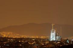 Sagrada Familia av Barcelona i Spanien, Europa. Royaltyfria Foton