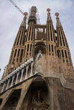 Sagrada Familia back, Barcelona, Spain Royalty Free Stock Photos