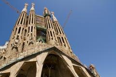 Sagrada Familia bajo construcción Imagen de archivo libre de regalías
