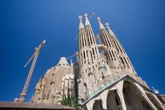 Sagrada Familia in Barcelona. Spain. (A. Gaudy stock images