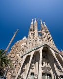 Sagrada Familia in Barcelona. Spain. (A. Gaudy Royalty Free Stock Images
