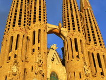 Sagrada Familia in Barcelona Stock Afbeeldingen