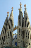 Sagrada familia in barcelona. The sagrada familia in barcelona Royalty Free Stock Photo