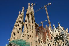 Sagrada Familia, Barcelona Foto de Stock Royalty Free