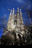 Sagrada Familia Barcelona Arkivfoto