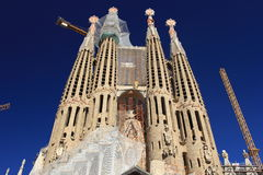 Sagrada familia in Barcelona Royalty-vrije Stock Afbeeldingen