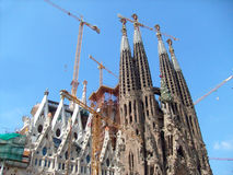 Sagrada Familia Barcelona stock images