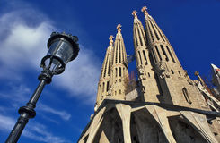 Sagrada Familia. Barcelona. Modernist Temple Sagrada Famila of Antoni Gaudi Royalty Free Stock Photo