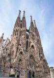 Sagrada Familia in Barcelona,. Sagrada Familia by Antoni Gaudi in Barcelona, Spain Stock Image