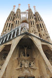Sagrada Familia in Barcelona. Back side of cathedral Sagrada Familia in Barcelona, Spain royalty free stock image