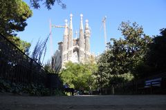 Sagrada Familia - Barcelona, Catalan arkivbilder
