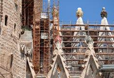 Fragment van Sagrada DE Familia, Barcelona, Spanje Royalty-vrije Stock Foto's