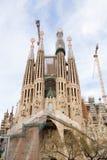 Sagrada Familia, Barcelona. BARCELONA - FEBRUARY 15, 2014: La Sagrada Familia Templo Expiatorio of Gaudi still in buliding process from 1882 being the greatest stock photos