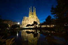 Sagrada Familia, Barcelona. BARCELONA - FEBRUARY 15, 2014: La Sagrada Familia Templo Expiatorio of Gaudi still in buliding process from 1882 being the greatest royalty free stock photography