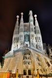 Sagrada Familia, Barcelona. BARCELONA - FEBRUARY 15, 2014: La Sagrada Familia Templo Expiatorio of Gaudi still in buliding process from 1882 being the greatest stock photography