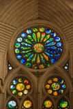 Sagrada Familia Barcelona. Gaudi`s Masterwork Architecture in Barcelona Spain Royalty Free Stock Image