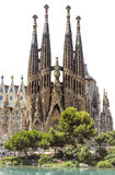 Sagrada Familia Barcelona isolated Royalty Free Stock Photography