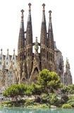Sagrada Familia Barcelona isolerade Royaltyfri Fotografi