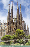 Sagrada Familia Barcelona. La Sagrada Familia in Barcelona, Spain. Clipping Path included stock image
