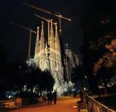 Sagrada Familia, Barcelona at night Stock Image