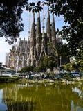 Sagrada Familia (Barcelona) in Spain. BARCELONA, SPAIN - APRIL 15: La Sagrada Familia - the impressive cathedral designed by Gaudi, which is being build since 19 Stock Photo