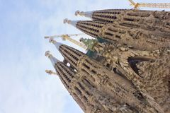 Sagrada Familia, Barcelona, Spain Stock Photography