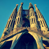 Sagrada Familia in Barcelona, Spain Royalty Free Stock Photo