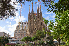 Sagrada Familia, Barcelona, Spain. Famouse spanish church Sagrada Familia, Barcelona, Spain royalty free stock photography