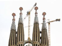 Sagrada Familia in Barcelona. Spain Royalty Free Stock Images
