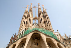 Sagrada Familia in Barcelona Spain Royalty Free Stock Images