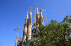 Sagrada Familia (Barcelona, Spain) Royalty Free Stock Photography