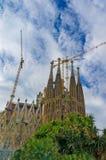Sagrada Familia in Barcelona , Spain. Sagrada Familia by Anthony Gaudi in the capital of Catalunya , Barcelona Royalty Free Stock Image