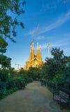Sagrada Familia in Barcelona , Spain. Sagrada Familia by Anthony Gaudi in the capital of Catalunya , Barcelona Royalty Free Stock Photography