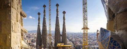 Sagrada Familia, Barcelona, Spain. Sagrada Familia and cityscape view, Barcelona, Spain stock photo