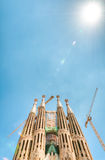Sagrada Familia in Barcelona, Spain, Europe. Royalty Free Stock Image
