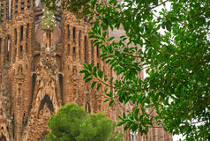 Sagrada Familia Barcelona Spain Gaudi Architecture Details Royalty Free Stock Photography