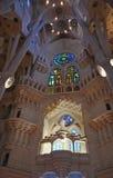 Sagrada Familia in Barcelona, Spain. Interiors in Sagrada Familia in Barcelona, Spain Stock Image