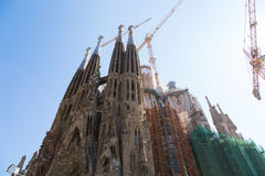 Sagrada Familia in Barcelona, Spain. BARCELONA, SPAIN -JULY 13: Sagrada Familia on JULY 12, 2013: La Sagrada Familia - the impressive cathedral designed by Stock Photography