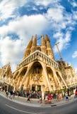 Sagrada Familia, Barcelona, Spain. La Sagrada Familia cathedral designed by Gaudi, Barcelona, Catalunya, Spain Stock Image