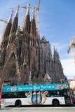 Sagrada Familia in Barcelona, Spain Royalty Free Stock Images