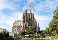 Sagrada Familia in Barcelona, Spain. BARCELONA, SPAIN -MARCH 06: Sagrada Familia on MARCH 06, 2015: La Sagrada Familia - the impressive cathedral designed by Royalty Free Stock Photo