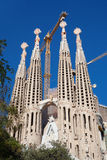 Sagrada Familia. Barcelona, Spain - November 9, 2015: Sagrada Familia is a large Roman Catholic church in Barcelona, designed by Antoni Gaudi. Although Royalty Free Stock Images