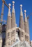 Sagrada Familia. Barcelona, Spain - November 9, 2015: Sagrada Familia is a large Roman Catholic church in Barcelona, designed by Antoni Gaudi. Although Royalty Free Stock Photos