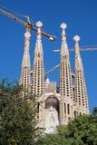 Sagrada Familia. Barcelona, Spain - November 9, 2015: Sagrada Familia is a large Roman Catholic church in Barcelona, designed by Antoni Gaudi. Although Stock Image