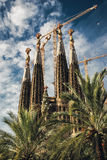 Sagrada Familia. BARCELONA, SPAIN - OCTOBER 23, 2009: The famous Sagrada Familia, a cathedral designed by Antonio Gaudi still under construction Stock Image