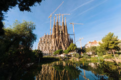 Sagrada Familia. Barcelona, Spain -October 10, 2011: La Sagrada Familia, the cathedral designed by Antoni Gaudi, which is being build since 19 March 1882 and Stock Photography