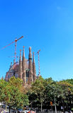 Sagrada Familia in Barcelona, Spain Royalty Free Stock Image