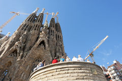 Sagrada Familia Barcelona Spain Stock Photos